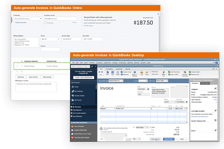 Scheduling Invoice Software